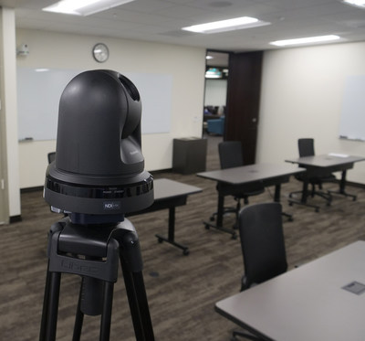 Panasonic AW-HE38H HD Pan-Tilt-Zoom camera in Pepperdine University classroom