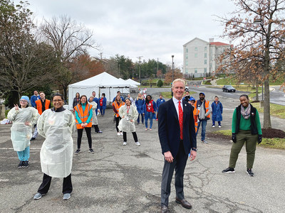 Kevin Reilly, Board Member of Hyundai Hope On Wheels and President of Alexandria Hyundai, onsite of the Children's National COVID-19 testing center in Washington, D.C.