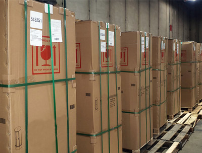 Heavy, bulky goods that would be subject to punitive over-maximum surcharges by large parcel carriers await final delivery at AIT-Chicago's warehouse.