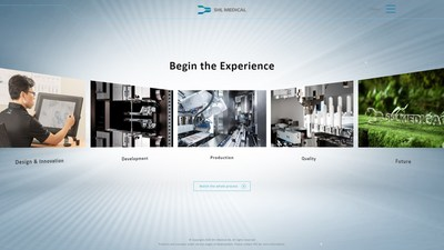 The SHL Experience virtual webpage features an interactive interface that showcases the processes behind the making of our devices.