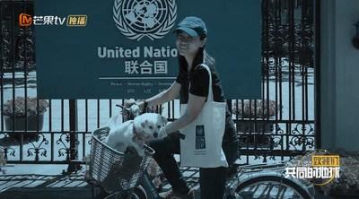 La joven china Zhao Yating de ACNUR (PRNewsfoto/Mango TV)