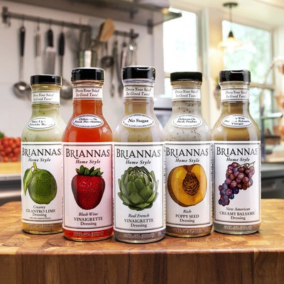 New Package Design from BRIANNAS Fine Salad Dressing
