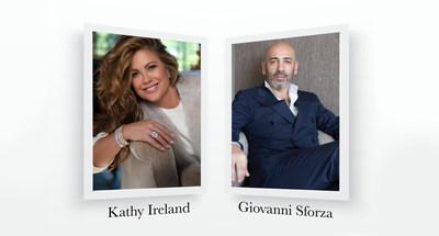 Kathy Ireland Image Courtesy of Jon Carrasco. Giovanni Sforza Image Courtesy of Di Gió Leather Sofas.