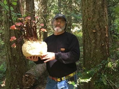 Paul Stamets with Reishi mushrooms.