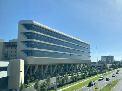 St. Joseph's Hospital in Tampa opened its new six-story tower, which includes a new main entry with covered drop off.