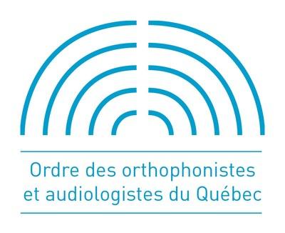 Logo de l'Ordre des orthophonistes et audiologistes du Québec (Groupe CNW/Ordre des infirmières et infirmiers du Québec)