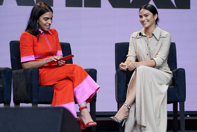 Mariana Da Silva (left), founder of El Cine, and 2019 LATINXT honoree, Camila Mendes, during last year's conference.