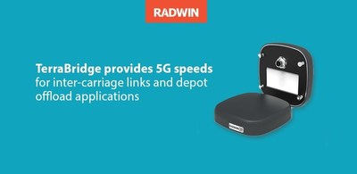 RADWIN TerraBridge provides continuous high-speed connectivity between train carriages to warrant end-to-end gigabit networks across any train and efficiently offload onboard recorded information when they arrive to the station or depot