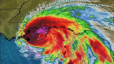 Hurricane Sally approaching the Gulf Coast.