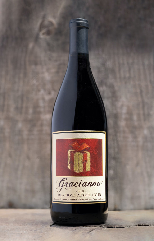 2018 Gracianna Westside Reserve Pinot Noir - multiple Gold Medal award including Best Of Show at the 2020 Sunset Magazine International Wine Competition, beating out over 2,700 other wines.