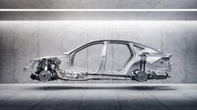 The all-new 2021 G80 mid-luxury sedan Genesis-exclusive body-in-white rear-wheel drive platform.