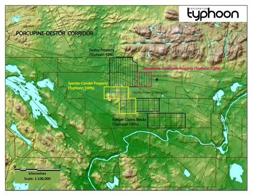 The Syenite Condor Property (CNW Group/Typhoon Exploration Inc.)