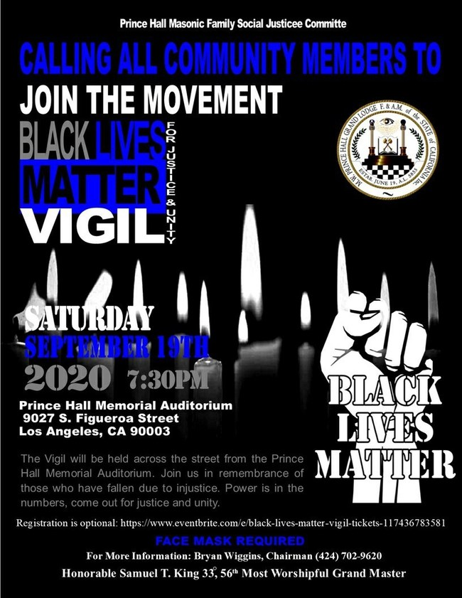 Black Lives Matter Vigil Flyer
