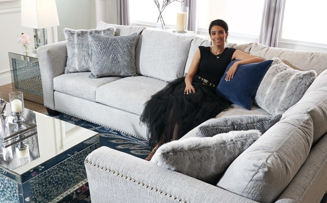 Value City Furniture announced today that Farah Merhi will share her expert tips for creating beautiful home spaces as the brand's first-ever Designer Looks Style Expert. Merhi, pictured here with VCF's Cora Sectional, is a leading source for interior designers of all ages, styles and expertise and runs one of Instagram's most-followed home décor accounts, Inspire Me! Home Décor.