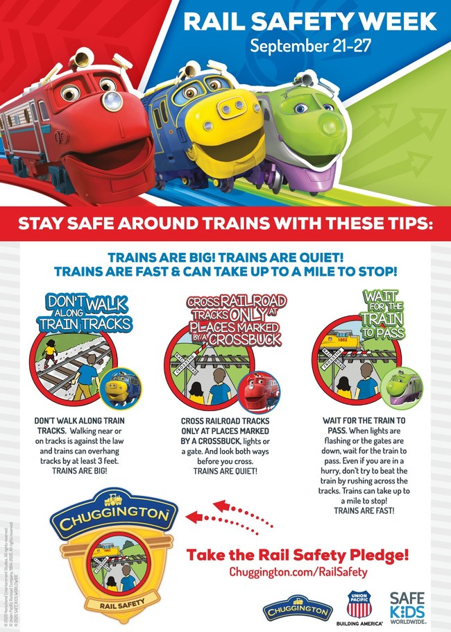 Union Pacific, Safe Kids Worldwide and Herschend Entertainment Studios partner to share rail safety tips via the characters of the animated TV series Chuggington.
