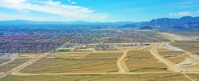 Aerial view of Skye Canyon in Las Vegas, by Century Communities