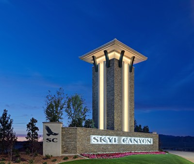 Entry Monument at Skye Canyon in Las Vegas, by Century Communities