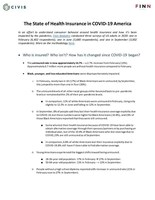 The State of Health Insurance in COVID-19 America