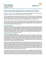Keyera Schedules Maintenance at Alberta EnviroFuels (CNW Group/Keyera Corp.)