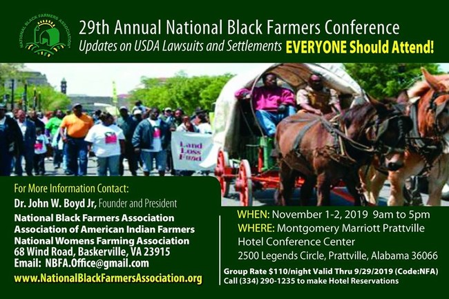 29th Annual National Black Farmers Association Conference - FREE to ATTEND