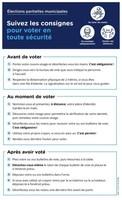 Élections partielles le 4 octobre 2020 dans neuf municipalités : consignes relatives au vote