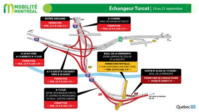 Échangeur Turcot - FDS du 18 septembre 2020 (Groupe CNW/Ministère des Transports)