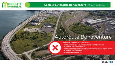 Autoroute 10 (Bonaventure) - FDS du 18 septembre 2020 (Groupe CNW/Ministère des Transports)