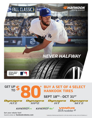 Hankook Tire Offers Consumer Savings with Fall Classic Rebate