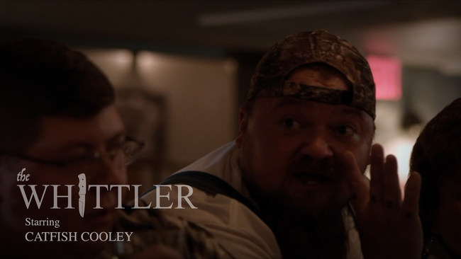 "Comedian and internet sensation Catfish Cooley making his debut appearance in ""The Whittler"""