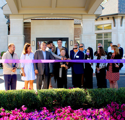 Moceri Companies officially cut the ribbon signifying the grand opening of Blossom Springs, the second in a portfolio of senior living communities within northern Oakland County, on Thursday, September 17, 2020. Members of the Moceri family were in attendance, along with County and City Representatives, Blossom Springs residents and their families, to celebrate the assisted living and memory care community.