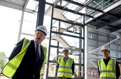 Prime Minister Boris Johnson Meets Scientists at the UK's Vaccines Manufacturing and Innovation Centre