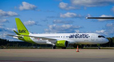 airBaltic A220-300 (Groupe CNW/Chorus Aviation Inc.)
