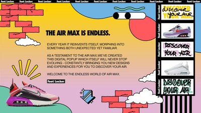 Foot Locker Launches 'The Endless World of Air Max: A Google Slides Experience'