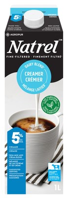 New Fine-Filtered Cream, 100% naturally sourced with no stabilizers! (CNW Group/Agropur)