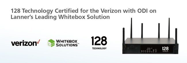 The Verizon-certified Lanner and 128 Technology joint solution is ready to operate on a wireless network to provide customers with SD-WAN connectivity with 128 Technology's Session Smart Router™ through the Verizon 4G Network Infrastructure