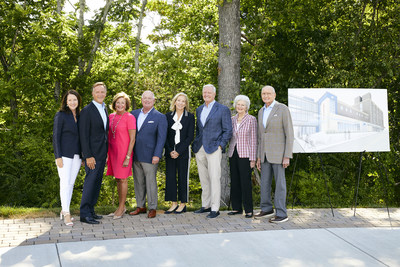 Pilot Company and the Haslam family have donated $5 million to East Tennessee Children's Hospital to renovate the Emergency Department at the hospital's main campus on Clinch Avenue in downtown Knoxville. Pictured from left with a rendering of the new ED: Crissy and Bill Haslam; Ann and Steve Bailey; Dee and Jimmy Haslam; and Natalie and Jim Haslam.
