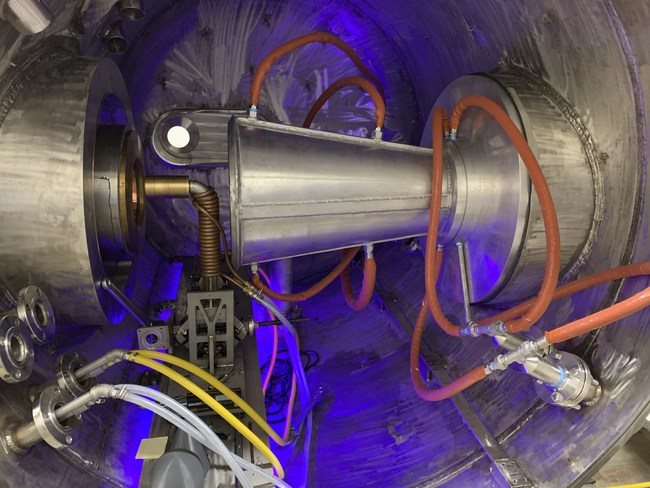 The nozzle of UTA's state-of-the-art jet hypersonic wind tunnel