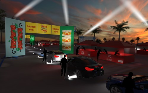 The Resy Drive Thru will transform the exterior of the Hollywood Palladium into a whimsical labyrinth featuring ten of LA's most sought-after restaurants and chefs on October 15th and 16th. Attendees will enjoy a 10-course tasting menu from the comfort of their own cars.