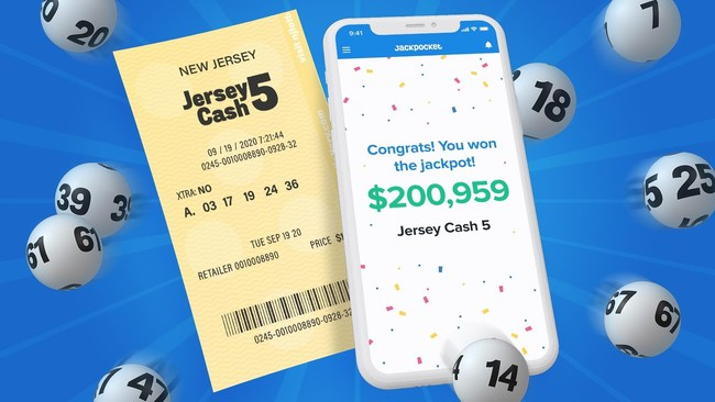 A Jersey Cash 5 player hit the $200,959 jackpot with a ticket ordered on the Jackpocket lottery app.