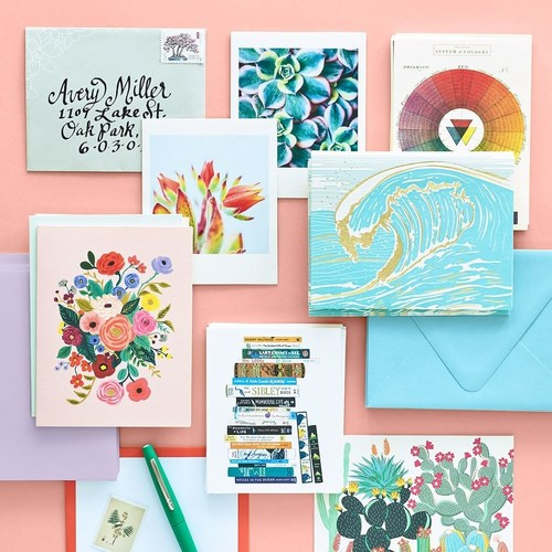 Alongside Paper Source's in-house designs, the highly curated greeting card assortment features cards from more than 250 niche makers.