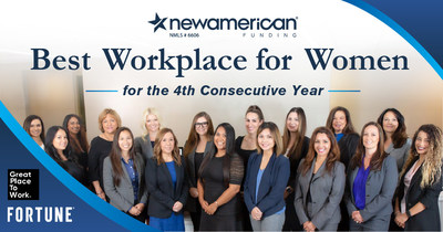 New American Funding Named Best Workplace for Women for 4th Consecutive Year
