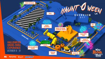 Hauntoween LA Overview Map
