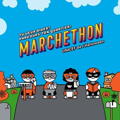 Marchethon UNICEF de l'Halloween (Groupe CNW/Canadian Unicef Committee)
