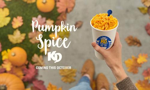 Kraft Dinner launches new #PumpkinSpiceKD this October (CNW Group/Kraft Heinz Canada)