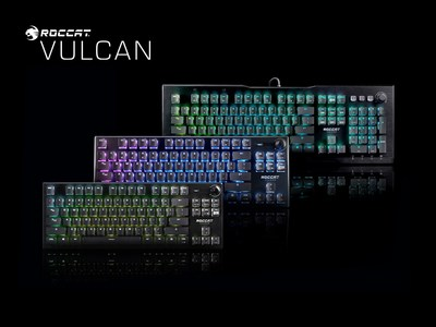 ROCCAT adds three new variants and an all-new Titan Optical Switch option to its award-winning Vulcan keyboard series.
