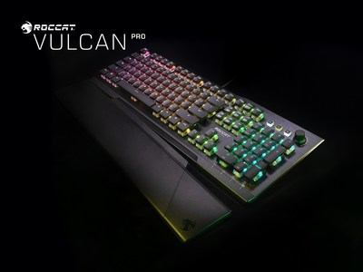 The all new Vulcan Pro features ROCCAT's all-new Titan Optical Switches which register keystrokes 40 times faster than a classic mechanical switch while doubling the life expectancy to 100 million clicks.