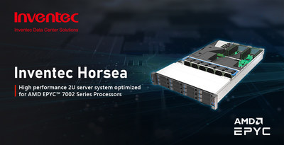 Inventec unveils Horsea – a high performance 2U server system optimized for AMD EPYC™ 7002 Series Processors
