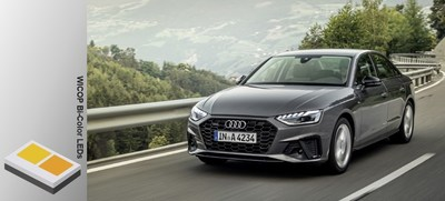 2020 Audi A4 with Seoul Semiconductor's WICOP Bi-Color LEDs (Source: Audi)