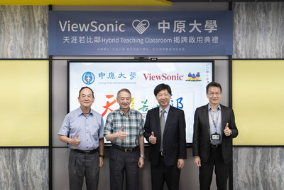 Located at Chung Yuan Christian University, ViewSonic Hybrid Teaching Classroom can be used for live streaming and synchronous and asynchronous learning to achieve digitalized teaching activities.