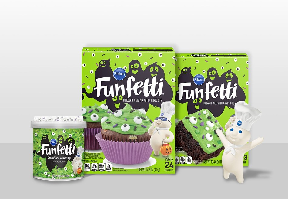 Pillsbury Baking launches Funfetti™ Slime Products just in time for Halloween – Funfetti™ Slime Frosting, Funfetti™ Slime Cake Mix and Funfetti™ Slime Brownie Mix